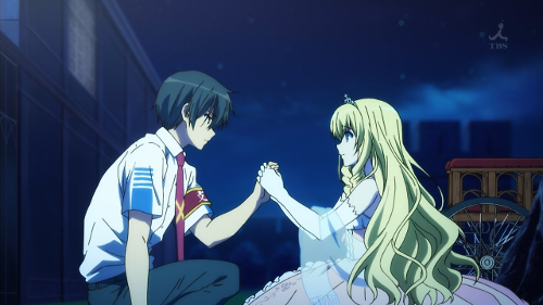 Kanie of Amagi Brilliant park is the most obnoxious male lead in a KyoAni series so far, but it works to contrast the craziness of the other characters.