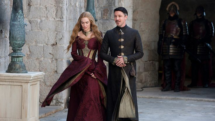 Queen Cersei and Littlefinger have a very polite conversation.