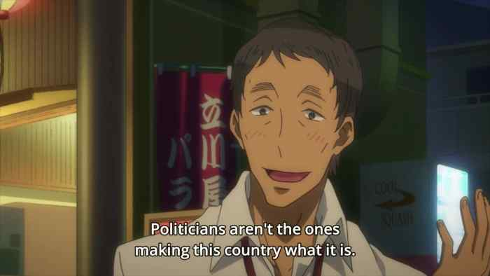Sugayama expresses his belief that the individuals what make up a nation.