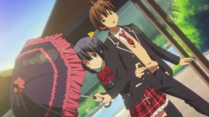 Rikka may be a token moe girl, but the romance in Chunibyo is more believable than in Beyond the Boundary.