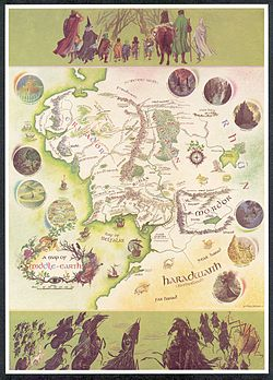 """A Map of Middle-Earth,"" by Pauline Baynes, 1970."