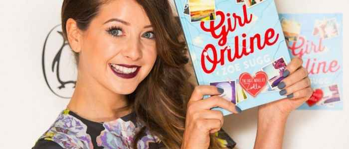 Zoella with her book Girl Online