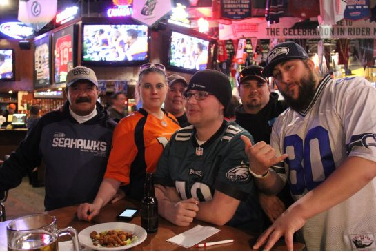 Millions tune in at home and sports bars for the annual Superbowl broadcast.