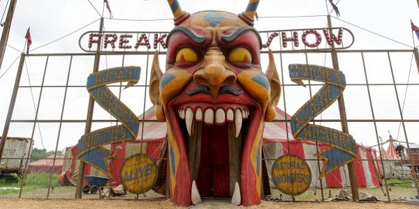 The Freak Show set from American Horror Story: Freak Show