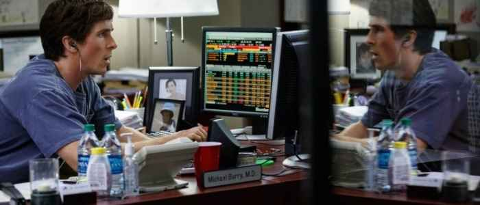 """Christian Bale as Michael Burry, the man who predicted the 2007 collapse in the housing market, in """"The Big Short."""""""