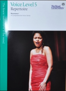 A typical Canadian Royal Conservatory of Music book for voice will include folk songs.