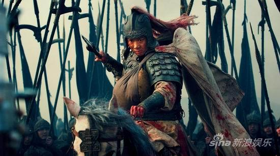 Zhao Yun fighting against Cao Cao's troops