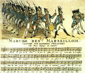 La Marseillaise truly has a lot of history; it was sung by revolutionary troops from Marseille during the French Revolution.