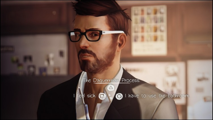 Underlined dialogue options indicate modified dialogue using new information.