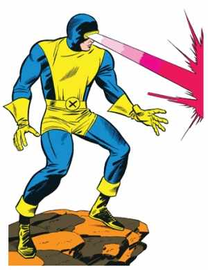 Cyclops of the X-MEN. Art by Jack Kirby