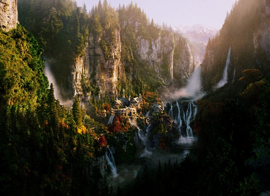 A representation of where the Fellowship of the Ring proceeds in order to meet Elrond in The Lord of the Rings: The Fellowship of the Ring