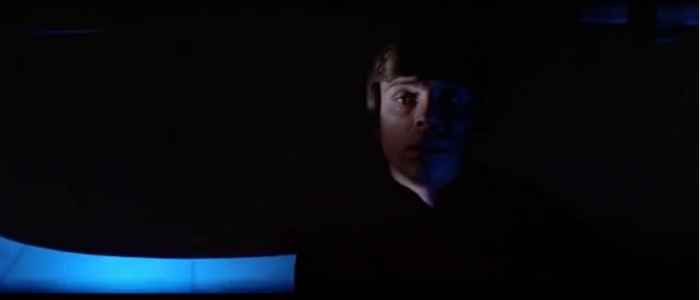 It might be a lighting issue but it tied so well with Luke's inner conflict between light and dark.
