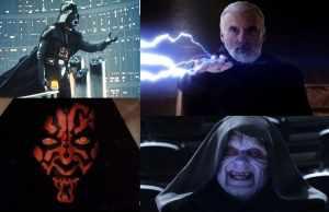 Vader, Maul, Dooku and Sidious.