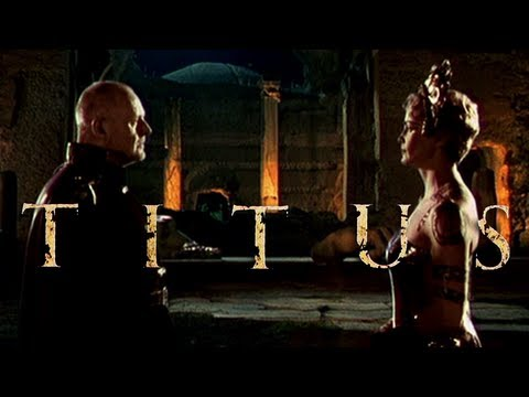 This image shows both Titus and Tamora being played in the film. I do not own the rights to this image.
