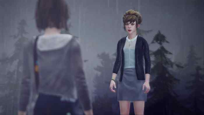Max confronts Kate on the roof prior to her suicide (attempt).