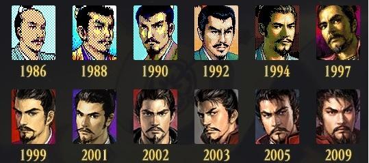 Oda Nobunaga throughout the Nobunaga's Ambition series