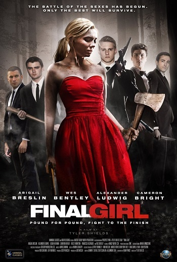 "A poster for Tyler Shields' ""Final Girl."""