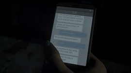 Josh's cellphone.
