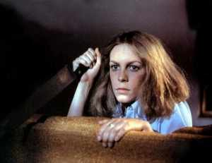 Laurie after taking Michael Myers' knife from him