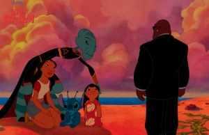 The Grand Councilwoman, Nani, Lilo, Stitch, and Bubbles presiding.