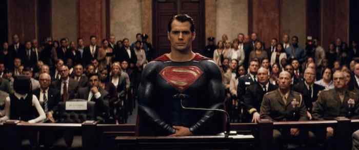 Superman in court -- the story shall be scripted in a way where the superhero can be connected with. He needs to have a human portion.