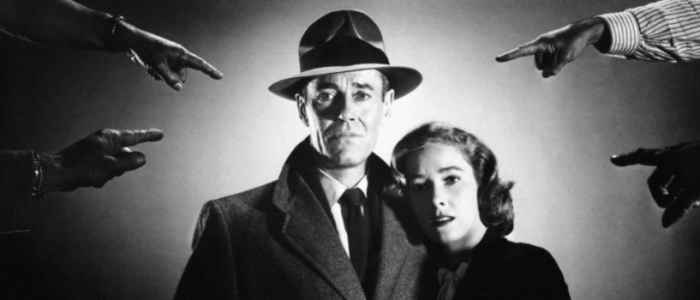 "Henry Fonda, with Vera Miles, stars as ""The Wrong Man"" (1956)."