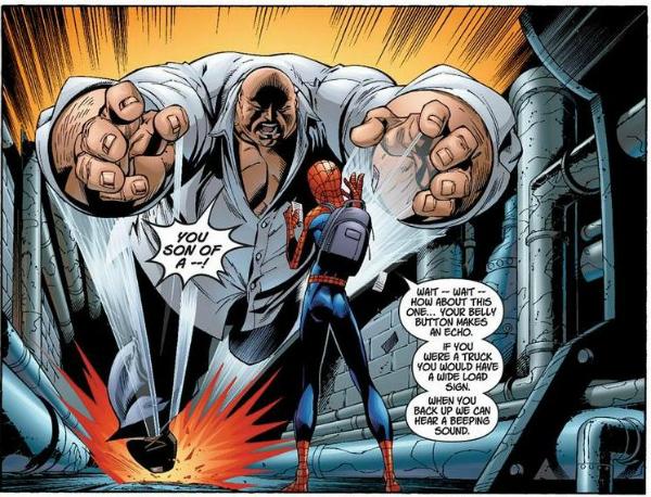 Kingpin and Spider-Man