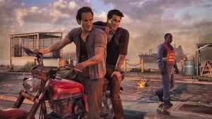 Sam and Nathan Drake in Uncharted 4: A Thief's End.