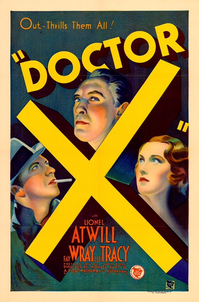 Original poster for Michael Curtiz's Doctor X (1932).