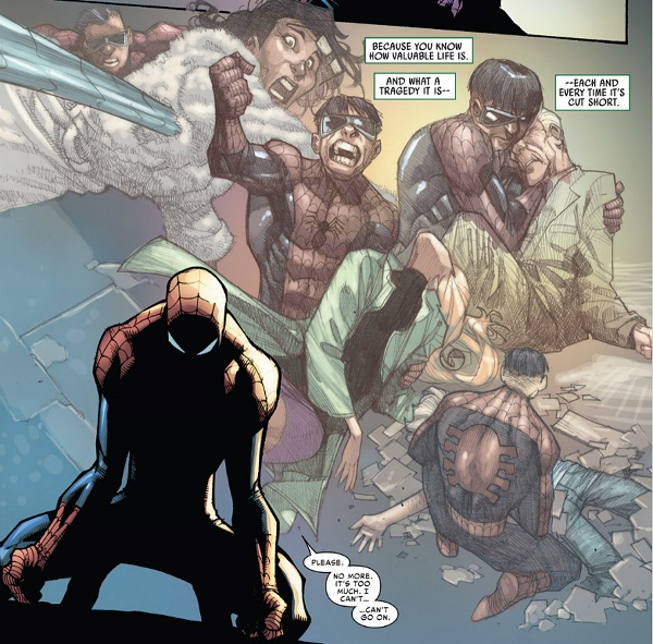 Peter Parker's one last(?) heroic moment