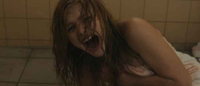 Chloe Grace Moretz as Carrie White in the infamous shower scene (2013).