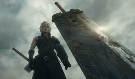 Cloud Strife in FFVII: Advent Children.