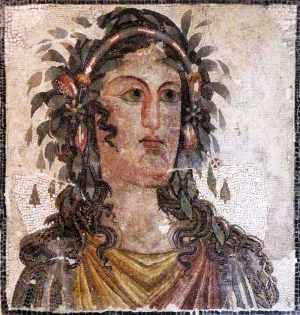 Roman mosaic of a muse.
