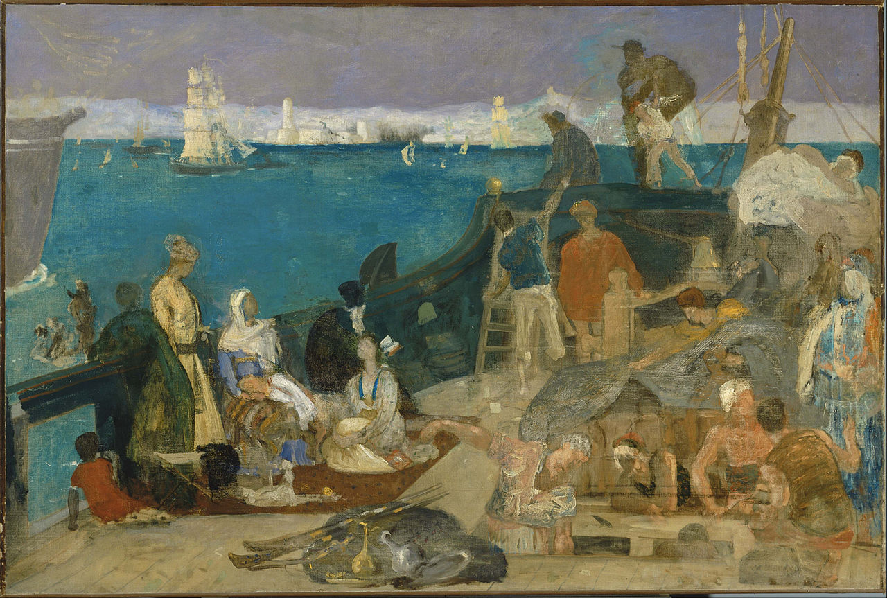 """Gateway to the Orient,"" by Pierre Puvis de Chavannes (1869)"