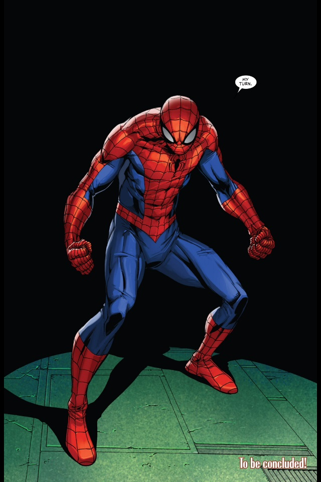 Peter Parker, the Amazing Spider-Man's return in the Superior Spider-Man