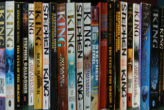 Here are a few of Stephen King's books.