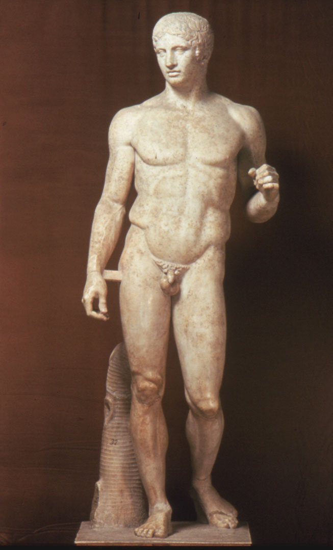 Considered the perfect male bodily form during the classical period of art.