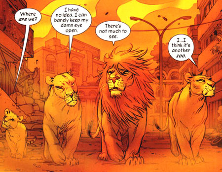 Pride of Baghdad was written by Brian K. Vaughan, with art by Niko Henrichson.