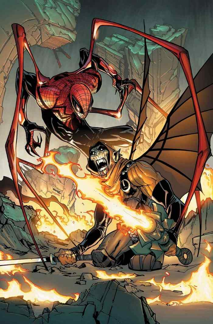 Superior Spider-Man(Otto Octavius) hunting down the Hobgoblin