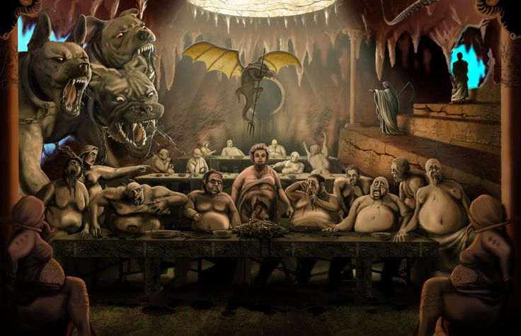 Image of Gluttony based on Dante's Divine Comedy.