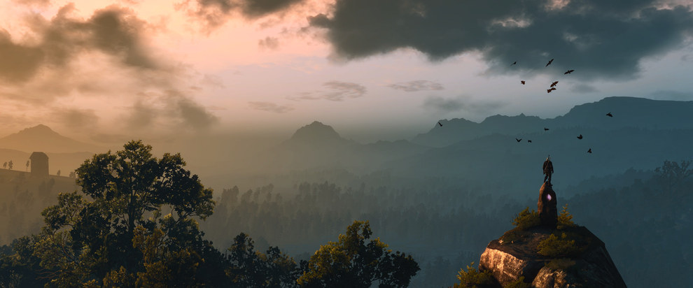 Screen Capture of beauitful landscape from Witcher 3: Wild Hunt