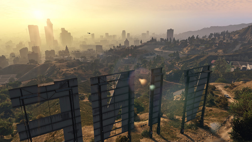 Screen Capture of a beautiful landscape from Grand Theft Auto V