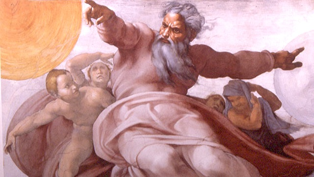 The Old Testament depicts God as the Wrathful Judge.