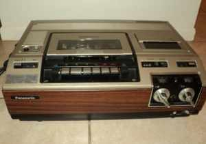 This is a Panasonic VCR model PV-1200 from circa 1979-1980.
