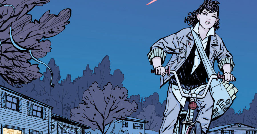 Paper Girls was written by Brian K. Vaughan, with art by Cliff Chiang and colours by another Matt, Matt Wilson.