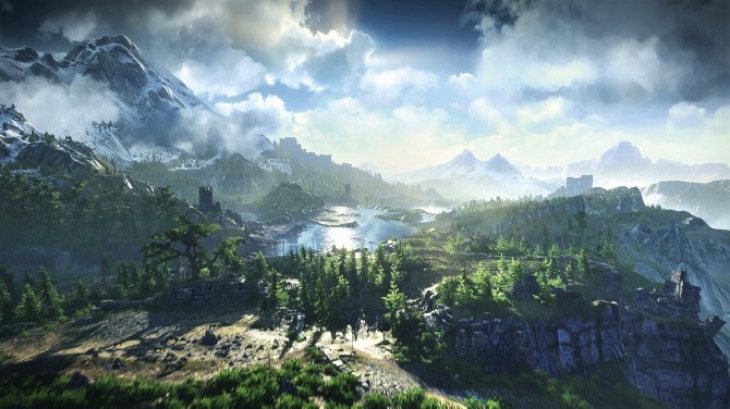 Screen Capture of a Witcher 3: Wild Hunt landscape