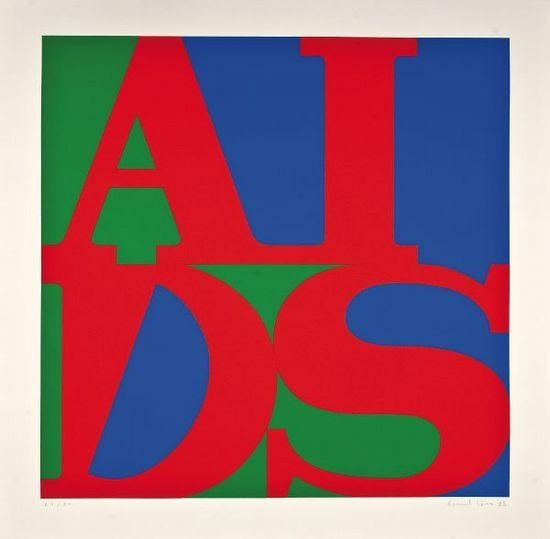 """AIDS,"" created by Canadian arts collective General Idea and adapted from Robert Indiana's iconic ""LOVE"" graphic."