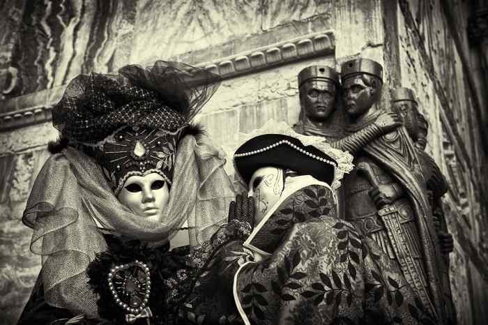 An image from Carnival in Venice, Italy