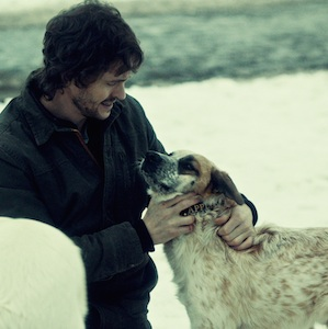 Will Graham greeting a chipmunk-cheeked Applesauce in Yakimono.