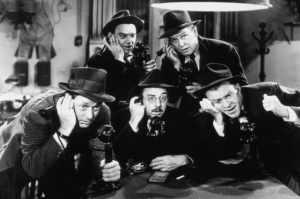 Women journalists were seldom seen in newsrooms in early journalism films.